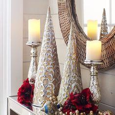 Embossed Cones - Gold | Pier 1 Imports