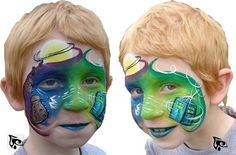 Dr Who Face Painting! by Mandy Lawrence