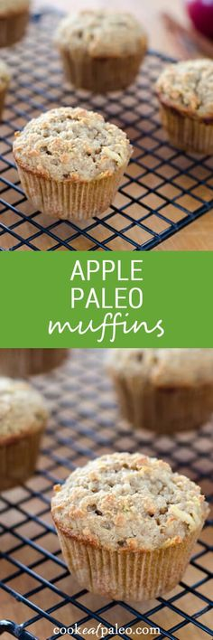Apple Paleo Muffins are quick and easy to put together. You can bake them on the weekend and freeze for grab-and-go breakfasts during the week. ~ http://cookeatpaleo.com