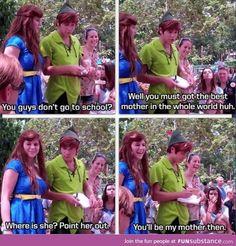 Peter Pan wants to homeschool. Oh my gosh can I please marry myself a Disney world Peter pan? Disney And Dreamworks, Disney Pixar, Walt Disney, Disney Characters, Disney Songs, Face Characters, Disney Love, Disney Magic, Disney Stuff