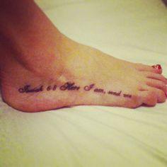 Isaiah 6:8 Here I am, send me. @Big Brain Tattoo Omaha, Ne