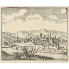 Hammelburg, Bayern, Kupferstich, Stich günstig kaufen bei Merian Bildservice www.merian-bildservice.de, Fototapete
