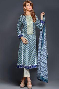 Product code: SUT-0597-LD 3-Pcs Suit SHIRT PRINTED ( 02  EMBROIDERED PATCH) , PRINTED LAWN DUPATTA  , TROUSER PLAIN COTTON Shop Online www.nimsay.pk