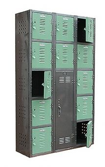 3 Tier vintage steel lockers from Twenty Gauge Basketball Bedroom, Vintage Lockers, Aviation Decor, Cool Kids Rooms, Steel Locker, Kids Bedroom, Dream Bedroom, Bedroom Ideas, Steel Furniture