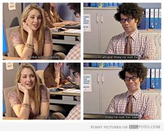 """""""I like your glasses."""" """"I'm afraid they're not for sale."""" IT Crowd, Richard Ayoade"""
