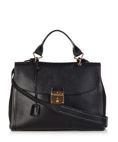 The 1984 black leather satchel - Marc Jacobs