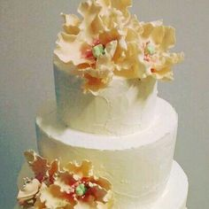 Flower cake ivory