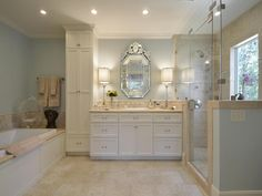 love this pretty bathroom in Travis Heights