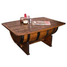 Whiskey Barrel Coffee Table