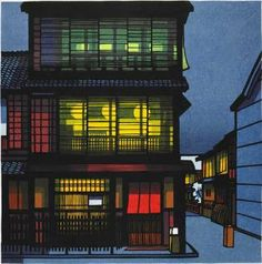 This is by Clifton Karhu. A guy from Duluth, MN who moved to Japan and became a renowned woodblock print artist.