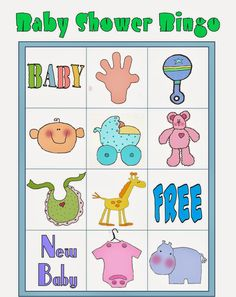 Loteria Para Baby Shower, Bingo Baby Shower, Baby Shower Printables, Free Printables, Diy Baby Shower Decorations, Frozen Bebe, Baby Shawer, Blogger Templates, New Baby Products