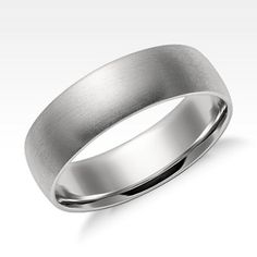 Men's Wedding Rings | Blue Nile - Matte Platinum, 6mm $900