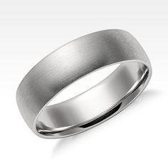 Men's Wedding Rings | Blue Nile - Matte Platinum, 6mm $900