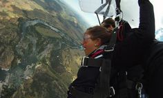 Skydiving, hiking th