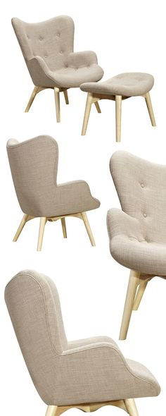 We love the clean lines and appealing retro aesthetic of the Paddington Deux Lounge set. Offered in a wide range of color options to really spark your creativity, the Paddington boasts a light ash wood...  Find the Paddington Deux Lounge Set in Ash, as seen in the On the Modern Side of Mid-Century Collection at http://dotandbo.com/collections/on-the-modern-side-of-mid-century?utm_source=pinterest&utm_medium=organic&db_sku=115188