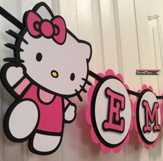 Custom Hello Kitty Party Banner by Flair4Paper on Etsy