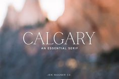 Calgary   An Essential Serif by Jen Wagner Co on @creativemarket