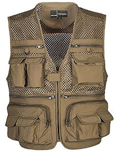 CCJJ  hunting camping multi pocket vest Mens SIZE  4XL -- You can find more details by visiting the image link.