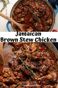 Jamaican Brown Stew Chicken is a wonderfully flavorful Caribbean dish that is great to make for any day of the week. It's the perfect stewed chicken dish when you want to experience a taste of the islands.