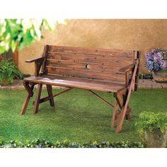 Rustic Convertible Garden Table - Bench