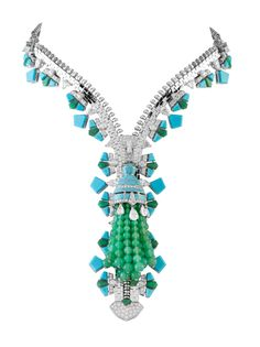 A new addition of the vintage Van Cleef & Arpels zipper necklace. When zipped, can be worn as bracelet! So cool.
