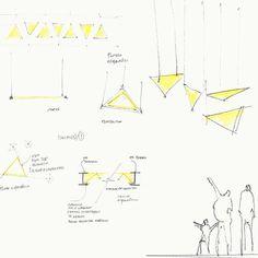 The concept behind Caja Popular Mexicana HQ. #officelighting #headquarters #officedesign #lightingdesign #lightandshadow #productivity #dynamic #ergonomic #lightingdetectives #iyl2015 #eild #mexico #Guanajuato #essystem #construlita #zumtobel #lobbylighting #sketch #concepts #triangle #lightingdetectives