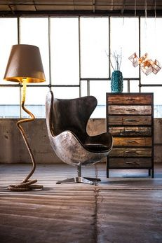 How to create your own industrial style interior - Designer Furniture at Designer Living - The Designer Living Online team give their tips on making your home resemble a hip converted warehouse