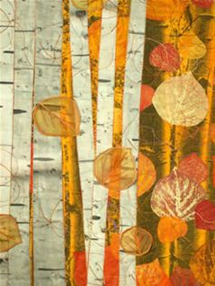 Aspen Grove quilt with full and detail views