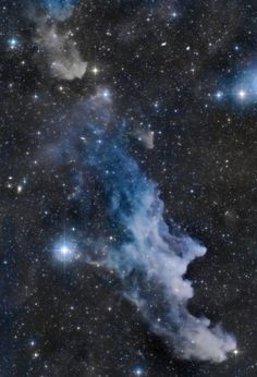 The Witch Head Nebula : Double, double toil and trouble; Fire burn, and cauldron bubble …. maybe Macbeth should have consulted the Witch Head Nebula. A frighteningly shaped reflection nebula, this. Cosmos, Astronomy Pictures, Carina Nebula, Orion Nebula, Helix Nebula, Andromeda Galaxy, Space And Astronomy, Hubble Space, Space Telescope