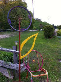 bike rim tire flower gordonspark.com Art In The Park, Gordon Parks, Art Projects, Bike, Flowers, Fun, Decor, Bicycle, Decoration