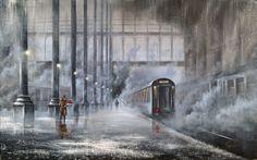 Jeff Rowland : Flowers in the rain