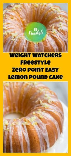 Weight Watchers Freestyle Zero Point Easy Lemon Pound Cake – weight watchers cooking This was bad! Weight Watcher Desserts, Weight Watchers Snacks, Weight Watcher Dinners, Weight Watchers Kuchen, Plats Weight Watchers, Weight Watchers Smart Points, Weight Loss, Weight Watchers Products, Recipes