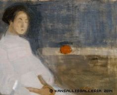 Seated Woman in White Dress, Helene Schjerfbeck - Cd Paintings Helene Schjerfbeck, Helsinki, James Mcneill Whistler, Female Painters, Edvard Munch, Art Society, Chur, Abstract Painters, Artists