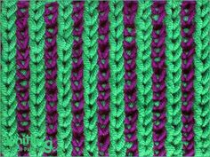 Two-color Brioche Stitch | Knitting Stitch Patterns