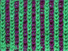Two-color Brioche Stitch   Knitting Stitch Patterns