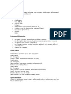 Biodata Format for Marriage Biodata Format Download, Resume Format Download, Marriage Biodata Format, Bio Data For Marriage, Reasoning Test, Medical Specialties, Information And Communications Technology, Marital Status, Resume Cv