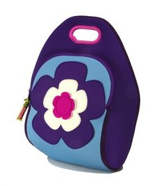 Dandelion Baby - Dabbawalla Bags:  Flower Power Lunch Bag, Crafted with Ariaprene, a revoluntionary fabric that is non-allergenic, recyclable, and completely free of toxic chemicals.
