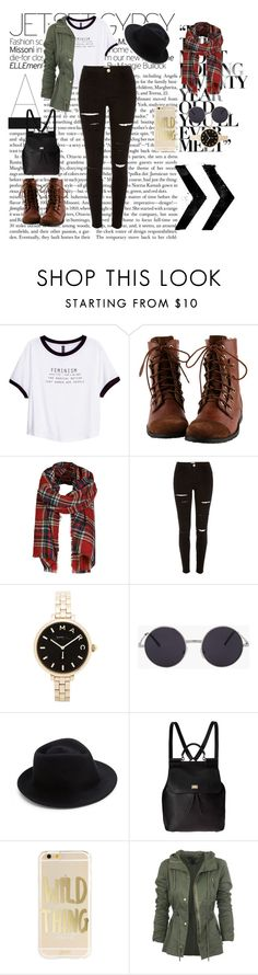 """""""Untitled #147"""" by maddisoncooper ❤ liked on Polyvore featuring H&M, ONLY, River Island, Marc by Marc Jacobs, Eugenia Kim, Dolce&Gabbana, women's clothing, women, female and woman"""