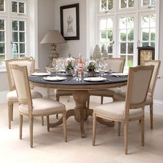 Belmont Oak Dining table with Eaton Oak dining chairs La Residence Interiors