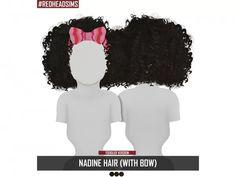 Nadine hair (with bow) toddler version - los sims 4 descarga Sims 4 Toddler Clothes, Sims 4 Cc Kids Clothing, Sims 4 Mods Clothes, Sims Mods, Sims 4 Afro Hair, The Sims 4 Bebes, Sims 4 Traits, Sims 4 Black Hair, The Sims 4 Cabelos