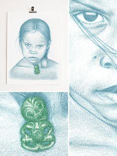 Maori Girl 1 (Reproduction from pencil portrait on paper) Maori Designs, Nz Art, Maori Art, Pencil Portrait, Artist Painting, Art Boards, Portraits, Inspire, Artists