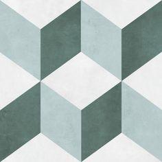Illusion Feature Floor Tiles Grey 33x33cm