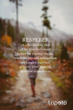 resfeber definition | Find out how many words you identify with. If you are a traveler we ...
