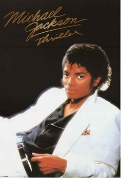 A classic poster of Michael Jackson from his mega-selling 1982 LP Thriller! Still one of the best pop records of all time. Fully licensed - 2009. Ships fast. 24x36 inches. Need Poster Mounts..? su1864