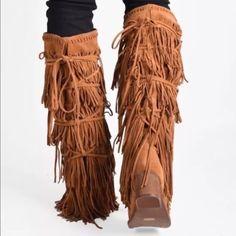 Jeffrey Campbell Shoes - Jeffrey Campbell esconder fringe leather boot