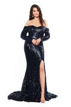 Curve Plus Size Dresses Curve Prom Dresses, Strapless Dress Formal, Formal Dresses, Sequin Gown, Sequin Fabric, Off Shoulder Gown, Slit Dress, Plus Size Dresses, Evening Dresses