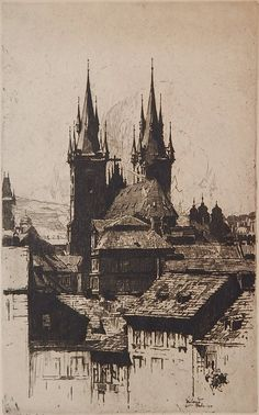 Jan Vondrous (1884-1956) - Prague, 1914