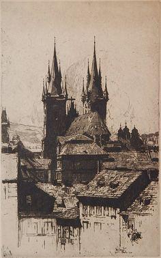 Jan Vondrous (1884-1956) - Prague, 1914