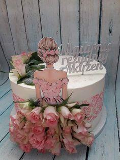Cake Decorating Frosting, Cake Decorating Designs, Creative Cake Decorating, Cake Decorating Videos, Birthday Cake Decorating, Cake Decorating Techniques, Rapunzel Birthday Cake, Funny Birthday Cakes, Elegant Birthday Cakes