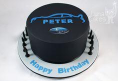 awesome Subaru cake by Luna Cakes